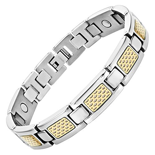 Willis Judd Herren-Armband, Titan, magnetisch, mit zweifarbigem