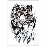 EROSPA® Tattoo-Bogen temporär - Aufkleber Tigerkopf - 21 x 15