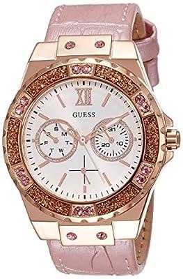 Guess Reloj analogico para Mujer de Cuarzo con Correa en Tela W0775L3