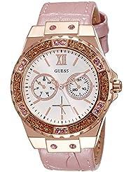 Guess Damen-Armbanduhr Analog Quarz Leder W0775L3