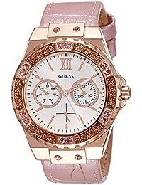 Guess Damen-Armbanduhr Ladies Sport Analog Quarz Leder W0775L3