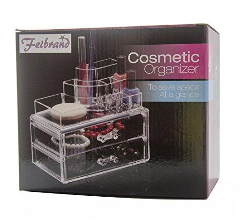 Feibrand cosmetic organizer porta trucchi con 2 cassetti - Porta trucchi professionale ...