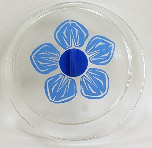 25,4cm Mikrowelle Borosilikat Glas Teller Cover mit griffigem Silikon Griff und Muster, Accent 10