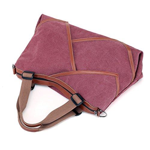KYFW Ladies Canvas Bag Borsa A Tracolla Casual Grande Capacità Cuciture Borsa Pratica Del Sacchetto Borsa Da Viaggio Per Ufficio Weekend Vacation Messenger Borsa A