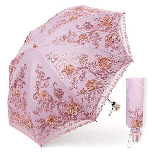 BJYG Umbrella Lace to Eat U Princess Sonnencreme aus schwarzem Kunststoff Anti-UV-Falten Rainy Goddess (Farbe: D) (Dekorierte Kunststoff-taschen)