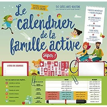 Le calendrier de la famille super active 2019-2020