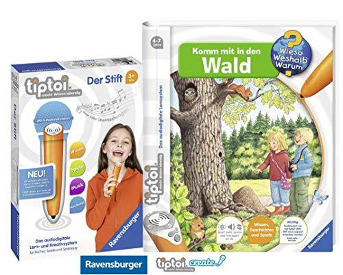 tiptoi Ravensburger Buch | Komm mit in den Wald + Ravensburger 007004 Stift Player