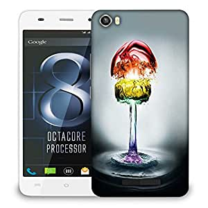 Snoogg Colorful Water Phases Designer Protective Back Case Cover For LAVA IRIS X8