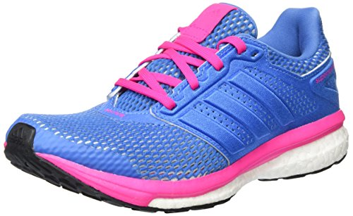 adidas Damen Supernova Glide 8 Laufschuhe, Blau Super Blue/Shock Pink, 39 1/3 EU