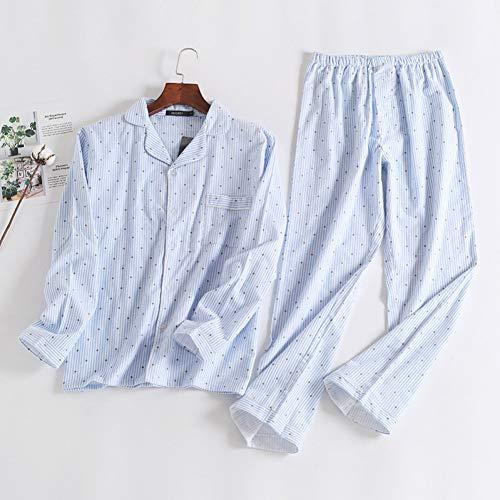 HIUGHJ Pyjamas Rosa Polka Dot süße Frauen Pyjama Sets Herbst Langarm 100% gebürstet Baumwolle gemütliche Schlafanzug Frauen Schlafanzug (Langarm-pyjamas Rosa)