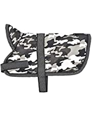 Pet Fab Warm Adjustable Dog Coat Soft Material for Small Medium and Large Breed Dogs(Size-21'' to 24'')