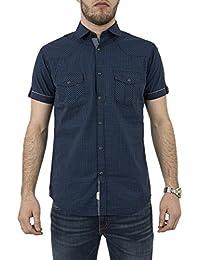 chemise manches courtes lee cooper 005407 duster bleu