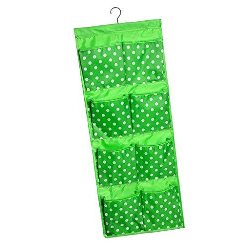 Magideal organizzatore con 12 tasche appendiabiti portapenne sacchetti per per porta bagno casa camera da letto - verde