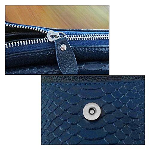 df7303d234b58 ... Shalwinn crossbody tasche damen leder weiche echtes Leder crossbody bag  blau Geldbörse Umhängetasche