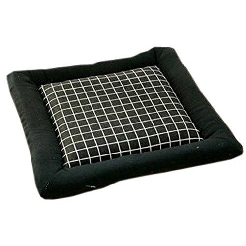 Intérieur/Extérieur Soft Home/Bureau Carré Coussin à chaise respirable à coussin souple, Black Lattice