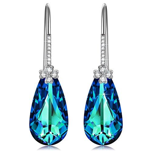 Alex Perry regalo di natale per donna orecchini donna acquamarina cristallo swarovski orecchini argento 925 regali san valentino gioielli regalo di compleanno per le donne ragazze amica mamma lei