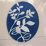 Azul Oscuro Parte Circular de Mesa de café de acrílico salón tapizado Equipo Felpudo Alfombra de la habitación