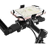 Fahrrad Handyhalterung, Rusee Universal Drehbar Smartphone Handyhalter Fahrrad Verstellbar Halter, Fahrrad Handy Halterung mit Silikonband für iPhone 7 Plus Samsung Galaxy S8 S8+ S7 Edge, Huawei, GPS