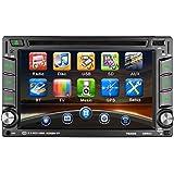 """Reproductor Multimedia para coche LESHP 6.2"""" Pantalla táctil autoradio 2 din Navegador GPS Coche Win CE Bluetooth / Soporta 1080P HD Video/ Control de Volante / FM AM / DVD / USB / SD / AV-OUT"""