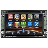 Autoradio CD Tuner mit GPS Navigation, CATUO 6.2 Zoll HD Touchscreen Wince Auto DVD CD Player/Auto Mp5 Player/Car Radio/Auto Multimedia Player, unterstützt Bluetooth Freisprecheinrichtung/AM/FM/USB/TF/AUX IN/Ausgabe/Digitaler TV/Subwoofer-Ausgang/Lenkradsteuerung/Frontkamera Rückkamera Eingang, mit Fernbedienung/GPS-Antenne/SD Karte