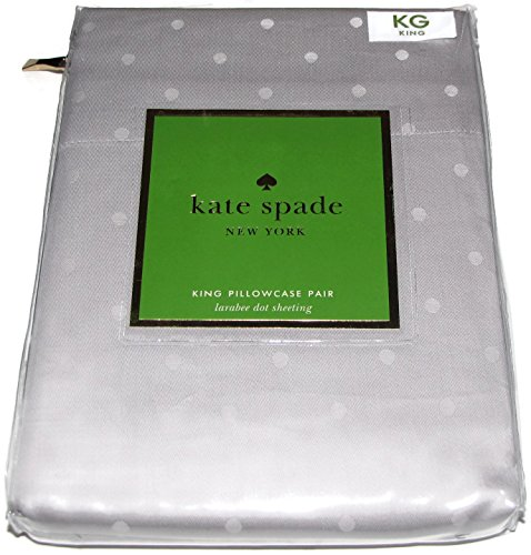 Kate Spade LARABEE Dot King Kissen (2), Gray -