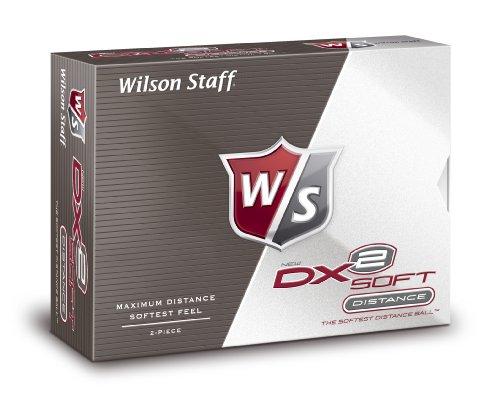 Wilson Staff Golfbälle WS DX2 SOFT 12-BALL, White