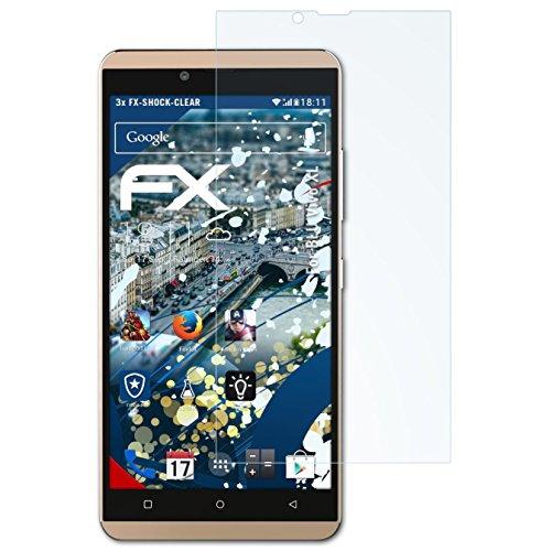 atFolix Schutzfolie kompatibel mit BLU Vivo XL Panzerfolie, ultraklare & stoßdämpfende FX Folie (3X)
