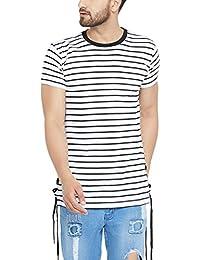 FUGAZEE Stripped Drawcord T-Shirt