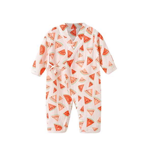 YWLINK Bebé ReciéN Nacido Mono De Dibujos Animados De Frutas De Manga Larga Pijama De Kimono De Gasa Mezcla De AlgodóN… 3