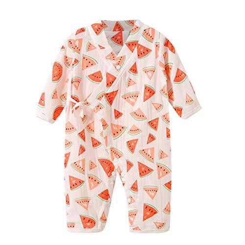 squarex ® Mädchengarn-Robe Blumenoverall Kleinkind-Kimono-Strampler Nachtwäsche-Overall Junge Legerer Strampler Bequemer Babyoverall (Baby Hockey Kostüm)
