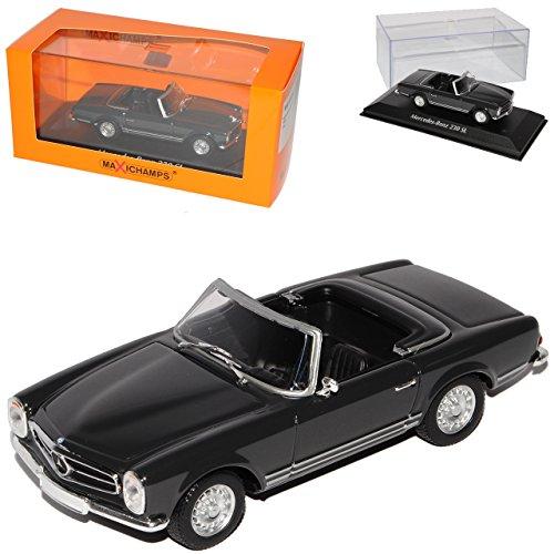 Mercedes-Benz 230SL Pagode Roadster Grau Fast Schwarz W113 1963-1971 1/43 Minichamps Maxichamps Modell Auto