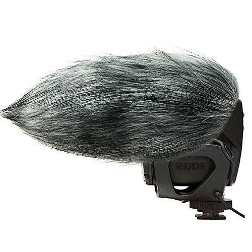 FIRST2SAVVV TM-VMP-01 Microfono Parabrezza Copertura Antivento Shell Cuffia Antivento in Pelliccia Sintetica per Microfoni a Fucile per Rode VIDEOMIC PRO VMP