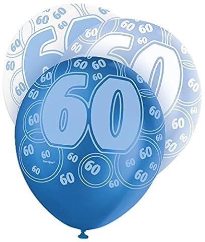Unique Party Latex-Luftballons für den Geburtstag, glitzernd, 30,5cm, 6Stück