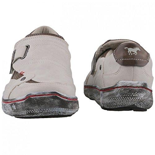 Mustang 1110-402 Schuhe Damen Slipper Halbschuhe Sneaker Offwhite