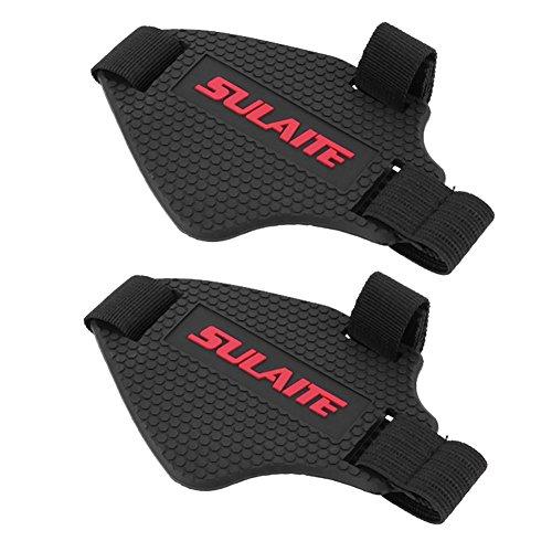 Demiawaking 2pcs copertura della scarpa in gomma per gear shifter motociclo salvascarpa protezioni copri scarpe per moto