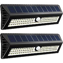 77 LEDs 1000 Lúmenes Focos Solares con Sensor de Movimiento de VicTsing, En un Rango de 4-8m y Angulo de 120º, Proporcionar hasta 12 HORAS Para Jardín, Terraza, Garaje, Camino de Entrada, Escaleras.