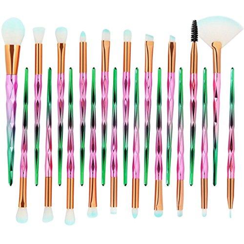 MML 2018 New Pro 20Pcs Makeup Brushes Set Powder Foundation Eyeshadow Eyeliner Lip Cosmetic Brush (20PCS, E)