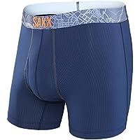 SAXX Quest 2.0 Boxer de Boxeo, Hombre, Azul Marino, S