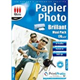 MICRO APPLICATION Lot de 50 Papiers photo brillant A4 Blanc