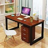 Tavolo per Computer, Robusti da Ufficio Studio Scrittoio, Stile Moderno Semplice Scrivania per PC da Tavolo per Ufficio a Casa(120X60CM,Teak)