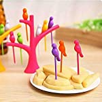 Your children aren't eating fruits? Bring home this Birdie and make your child fruit eating fun. Six tiny skewers made from 100% recyclable plastic are beautifully slotted into the holes of an arboreal stand so that their adorable avian tops assemble...