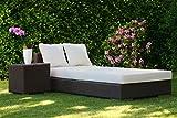 Polsterauflage für Sonnenliege Höhe 10 cm 60 x 190 oder 70 x 200 cm PU RG35 Leder Liegenauflage Topper Gartenliege Strandmatte Auflage für Liegestuhl soft / weich inkl. Kunstlederbezug Schaumstoffauflage günstig