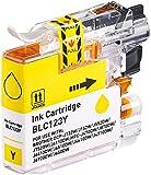 iColor Druckertinte: Tinten-Patrone für Brother-Drucker (ersetzt LC-123Y), Yellow (Gelb) (Druckerpatronen)