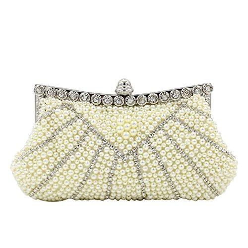 Perlen-Diamant-Abend-Beutel-High-End-Frauen Handtasche Pearlcolor