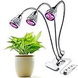 Led Pflanzenlampe Pflanzenlicht 15W 15LEDs 360 Grad Einstellbar Pflanzen Wachstumslampe für Saatgut Blumen Gemüse Wasserpflanzen Topf- und Zimmerpflanzen mit EU Stecker (Pflanzenlampe)