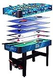 Devessport - Multijuego 7 en 1 - Futbolín, Billar, Push Hockey, Ice Hockey, Ping-pong, Dados, Black Jack, Incluye nivelador, Mango de plástico, Dispone de marcadores - Medidas: 120 x 61 x 82 Cm
