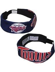 (2 unidades) MLB Minnesota Twins Flex Fit Jersey correa/Pro diadema (Talla única) - azul oscuro, MLB, color azul oscuro - azul oscuro, tamaño talla única