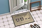Individuell bedruckte Fußmatte - 'Fussabdruck' in 3 Größen waschbar bei 40°, Größe der Fußmatte:50 x 70 cm