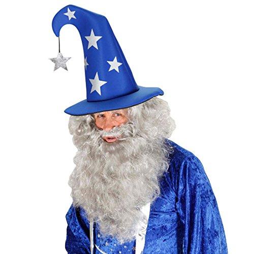 Chapeau magicien avec étoiles chapeau pointu bleu-argenté chapeau de magicien chapeau magicien chapeau mage chapeau de sorcier Harry Potter