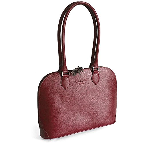 Sac New-york cuir Fabrication Luxe Française Rouge Bordeaux